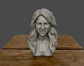 Shakira 3d bust