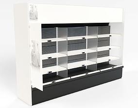 Retail shelf unit 3D asset