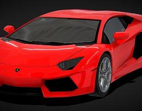 Lamborghini Aventador Super Sport Car 3D VR / AR ready