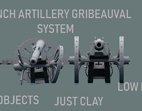 3D asset GRIBEAUVAL SYSTEM CANON