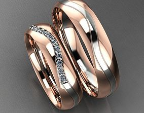 New Classic Duo-Tone Wedding Band 3D printable model