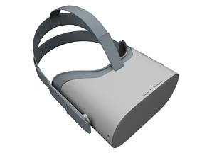 game-ready Oculus Go Headset 3D Model