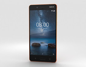 3D model Nokia 8 Polished Copper touch