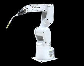 Fanuc LR MATE 200IB Cinema 4D Rigged Robotic Arm 3D