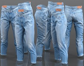 Jeans Trousers Medium Length Pants 3D asset