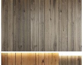 Wood panel set 8 3D model