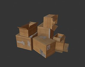 Cardboard Boxes Pack 1 PBR 3D asset game-ready