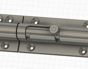 Barrel Bolt lock 3D print model