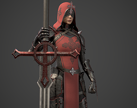 3D asset Girl Knight