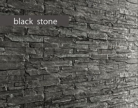 Stone slate black 3D 43