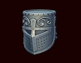 3D print model Crusader helmet