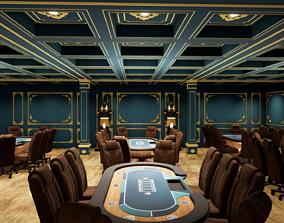 POKER TABLE 3D model game-ready poker