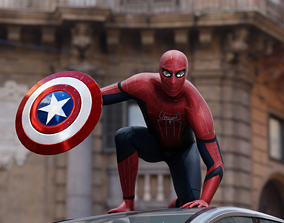 3D asset rigged Spiderman