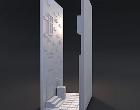 Decorative street between books 3D print model