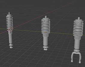 3D model Vehicle Coil spring plus dumper