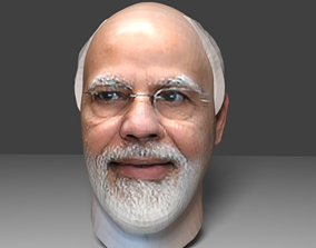 narendra modi head 3d model animated