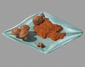 3D model Dynasty City - mushroom stand