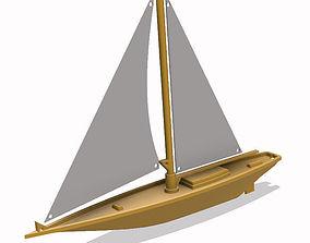 toys Sailing Boat 3D model
