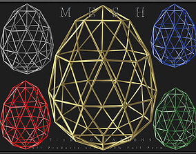 Wire Egg 3D asset