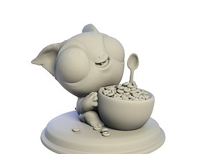 Desktop figure Buddy and Sweet 3D printable model