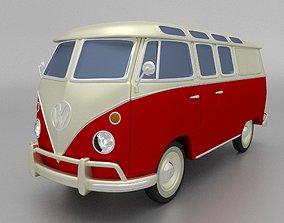 3D model VW Bulli Samba T1 Bus