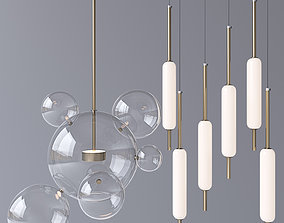 Pendant lamp Typha Giopato and Coombes Bolle Gold 06 3D