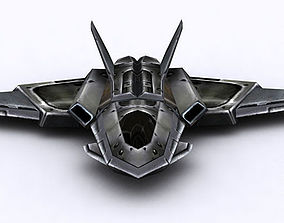 3DRT - Sci-Fi FIghter 11 low-poly