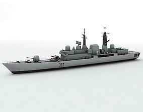 Type 42 Destroyer Military Ship 3D asset