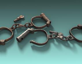 3D asset Old Handcuff
