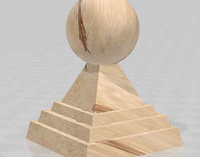 architecture Stone ball finial 3D printable model