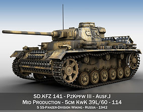 3D model PzKpfw III - Ausf J - 114