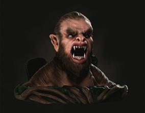 Werewolf 3D print model werewolf