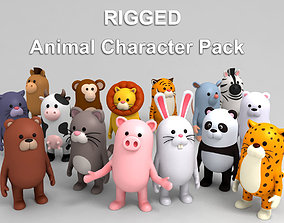 Rigged Animal Character Pack 3D model