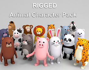 3D model Rigged Animal Character Pack