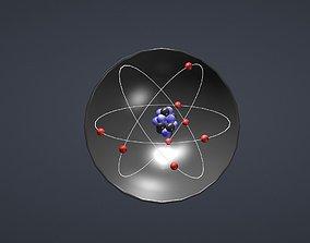 Covalent bond h2o 3D asset animated
