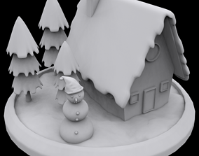 3D print model Winter house