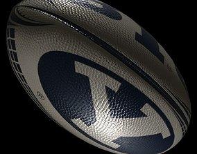 rugby ball 2 3D asset