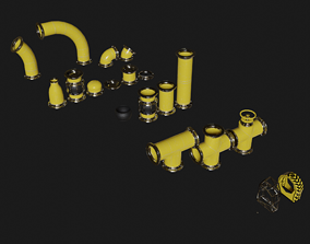 Pipes Modular Set 3D asset