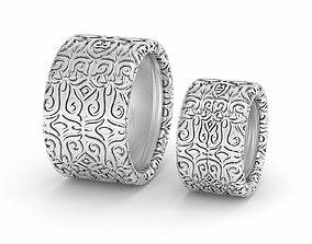 Mason wedding pattern ring printable Oxidized silver