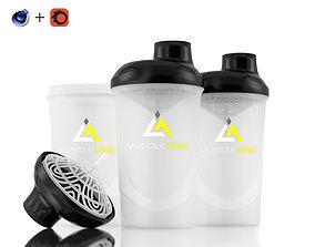 3D Protein Shaker Mixer - For Corona Renderer C4D