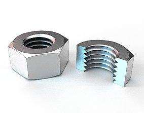 3D printable model Hex Nut