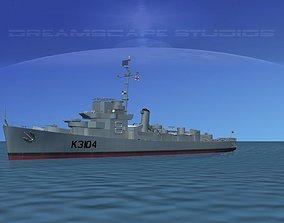UK Captains Class Frigate Bayntun 3D