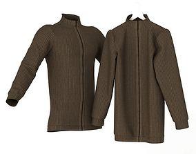 High Neck Sweater 3D