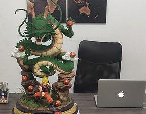Shenlong and Goku Kamehame haaa 3D printable model