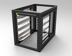 15RU Systems Rack 3D model