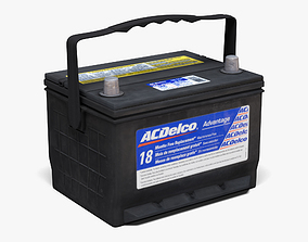 3D model game-ready ACDelco Car Battery