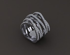 Diamond ring 3D print model jewel wedding