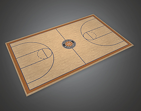 3D model Basketball Court 01a - Sports And Gym
