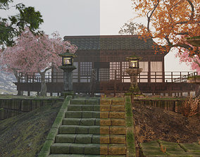 3D model Low Poly Japanese Foliage Pack With PBR Materials