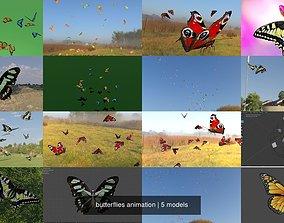 butterflies animation 3D